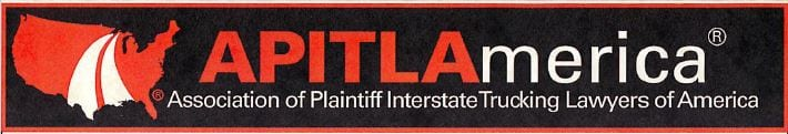 Logo for Association of Plaintiff Interstate Trucking Lawyers of America. William Monroe is a member of A.P.I.T.L America in good standing.